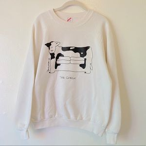 Tops - Vintage Cow Print Made in USA The Cowch Sweatshirt
